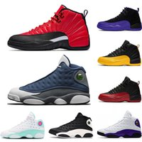 Baskaetball Shoes Flint 13 13s He Got Game Rivals 12 12s Reverse Flu Game Dark Concord FIBA Mens Sneakers Sports Size 40-47