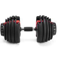 جديد الوزن قابل للتعديل الدمبل 5-52.5LBs اللياقة البدنية التدريبات دمبل لهجة قوامك وبناء عضلاتك ZZA2196 الشحن البحري