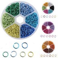 Gratuit DHL Jump Anneau Connection Anneaux Combinaison Set Accessoires bijoux bricolage main de couleur aluminium anneau anneaux ouverts