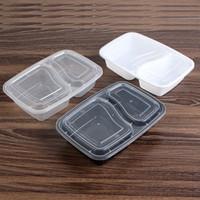 1000ml Engångs lunchlådor Snabbmat Snackbehållare Måltid Prep Food Storage Case Partihandel
