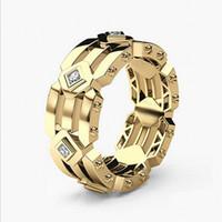 Hip Hop Nuovo arrivo Gioielli di moda moderna Argento sterling 925Rose in oro Riempire le donne degli uomini da sposa Anello nuziale per il regalo dell'amante