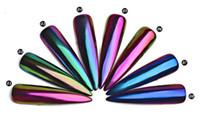 Yeni Salon 0.3g Bukalemun Ayna Tırnak Glitters Toz DIY Tırnak Krom Pigment Toz Manikür Nail Art Dekorasyon Araçları