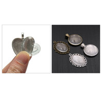 16Pcs Oval Pendant Trays and 16Pcs Round Bezels with 32Pcs G...