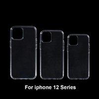 1mm Yumuşak TPU Darbeye Dayanıklı Clear Kılıfları Için iPhone12 12pro 12mini Şeffaf Silikon Telefon Kapak iphone 12 Pro Max