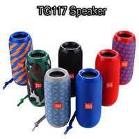 TG117 Taşınabilir Sütun Hoparlör Su geçirmez Bluetooth Hoparlör Açık Bisiklet Subwoofer Bass Kablosuz Boom Box Hoparlör FM TF kartı hoparlör