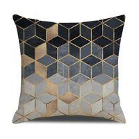 Cuscino di lino Caso di lino 45 * 45 cm Geometria Pittura Cuscino Copriscussioni Lenzuola Stampato Colorato Colorato Cover Cuscino Euro Throw Pillowcases Divano Decorazioni per la casa