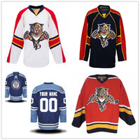 Personalizzato Vintage Florida Panthers 1 Luongo 10 BURE 34 Vanbiesbrouck 26 SHEPPARD 20 SKRUDLAND cucito CCM Hockey Jersey qualsiasi nome il tuo numero