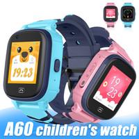 A60 الأطفال الذكية الساعات WIFI للياقة البدنية سوار ساعة مع GPS متصل IP67 للماء 4G SIM موبايل ساعة ذكية للأطفال