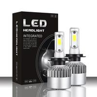 2019 16000lm melhorada S2 LED farol de carro com lâmpadas COB poderoso fritas H1 H3 H4 H7 H8 H9 H11 levou 880 881 9004 9005 9006 9007