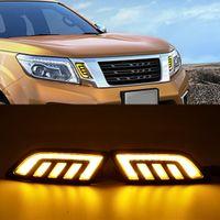 1 Set Fit für Nissan Navara NP300 D23 2015 2016 2017 2018 2019 LED DRL Tageszeit Lichter Kühlergrill LED Lampe Maske Signal Funktion mit dem Drehen