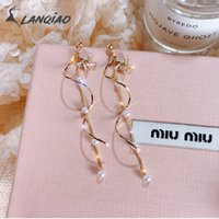 2019 Korean Fashion Curved Shape Drop Earrings Water Crystal...