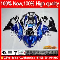 Cuerpo para Kawasaki ZX636 ZX600 ZX6R perla azul ZX6R 09 10 11 12 33HC.16 ZX 6R 636 600CC ZX636 ZX 6R 2009 2010 2011 2012 100% nuevo carenado
