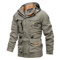2019 Giacca da esterno impermeabile Soft Shell Caccia giacca a vento da sci Cappotto da trekking pioggia da campeggio pesca abbigliamento tattico Uomo Donna