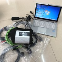 2019 12 V 480G Mini SSD Software MB Yıldız SD Için Connect C4 Teşhis Tam Set + Dizüstü CF-AX2 I5 8G Dokunmatik MB Teşhis Aracı