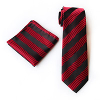 New Style Striped 100% Silk Ties Gravata 8 Cm Men Ties Desig...