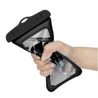 6inch Yüzer Hava Yastığı Yüzme Çanta Su geçirmez Cep Telefonu Kılıfı Cep Telefonu Vaka İçin Swim Dalış Sörf Plajı Kullanımı