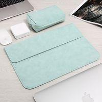 Laptop Kol Çantası için Macbook Air Retina 13 12 15 Yeni Pro 13.3 inç Dokunmatik Bar PU deri Kılıf Dizüstü Ve Tablet Kapak İçin