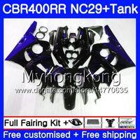 Kit para HONDA NC29 CBR400 RR CBR400RR 94 95 96 97 98 268HM.12 CBR 400 RR NC23 CBR 400RR Llamas azules 1994 1995 1996 1997 1998 1999 1999 Carenados
