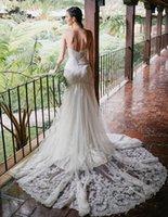 Top Selling Sweetheart Mermaid Robes De Mariée Crystal Sash Longue Dentelle Dentelle Robes De Bridal Bridal Appliques Robe de Mariée