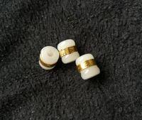 Altın kakma yeşim ve Tian Yu Yolu Yol DIY gevşek boncuk D4 Kargo ücretsiz kolye beyaz yeşim transferi boncuklar geçmesi