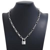 Nuovo popolare stilista di moda di lusso esagerato grande catena di metallo blocco ciondolo collana di dichiarazione girocollo per l'argento donna oro