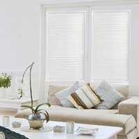 Self- Adhesive Pleated Blinds Curtains Half Blackout Windows ...