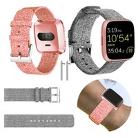 For Fitbit Versa band Durable Fashion bracelet Nylon Fabric ...