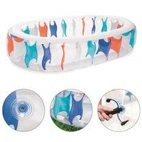 Poolzubehör Oval Transparent aufblasbare Schwimmfamilie Blow Up für 2-4 Kinder Jungen Mädchen Sommer Haben Sie Spaß
