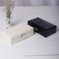보석 보석 상자 귀걸이 반지 목걸이 다기능 저장 상자 주최자 순수한 색상 보석류 케이스 창조적 인 새로운 도착 25ps J1