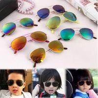 Çocuk Güneş Çocuk Plaj UV Koruyucu Gözlük Kız Erkek Güneş şemsiyeleri Gözlük Moda Pilot Güneş Gözlükleri Malzemeleri