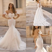 Berta 2019 Mermaid Wedding Dresses Vintage Illusion Lace App...