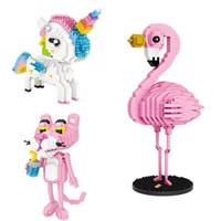 LOZ Elmas Blokları 9204 9205 9785 Çocuk Hediye DIY Renkli Karikatür Hayvanlar Eylem Şekil Tuğlalar Oyuncaklar