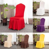 Spandex Stretch Chair Covers Elastic Cloth Ruffled Washable ...