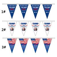2020 Trump Triângulo Bandeira da bandeira da bandeira dos EUA Supporter Pull fazer América Great Again Bandeira partido Home Presidente Eleição Trump Suprimentos BC VT1099