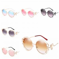 Rhinestone Snake Sunglasses 6 colors Double Round Frame Mirr...