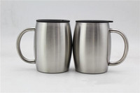 14oz Stainless Steel coffee Mugs with lids 14OZ Double Walle...