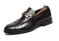 Мужчины формальный бизнес Брог обувь роскошные мужские крокодиловые туфли мужские повседневные натуральная кожа свадебные мокасины DA068