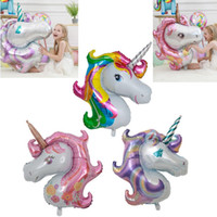 Large 117 * 87cm Rainbow Unicorn Party Supplies Foil Balloon...