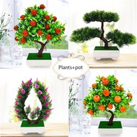 Yoshiko Artificial Plants Bonsai Tree Pot Plants Fake Flower...