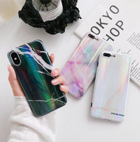 Aurora marble iPhoneX mobile phone shell Apple 8plus 7 6s cr...