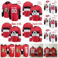 Homens Juventude Mulheres Ottawa Senators Thomas Chabot Jersey personalizado Hockey Ryan Dzingel Chris Tierney Colin Branco Bobby Ryan Black Red White