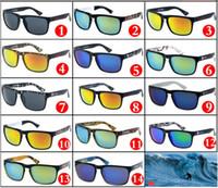 حار بيع 14 ألوان كول الرجال الرياضة نظارات للجنسين تصميم الطباعة في الهواء الطلق الدراجات نظارات الشمس العدسات مرآة ملونة