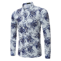 Chinese Style Floral Shirt Overside 7XL Male Slim Clothing M...