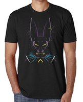 Dragon Ball Z Beerus T-Shirt Ink Splat Effect Unisex Anime T-Shirt - HEAD COLOR por mayor nuevo 2018 Verano Moda Recta 100% Algodón