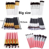 BIG SIZE 10pcs set Makeup Brushes Professional Make Up Brush...