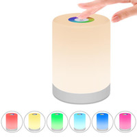 Беспроводная аккумуляторная Настольная лампа LED ночник с регулируемой яркостью Теплый белый свет Изменение цвета RGB Сенсорная лампа для спальни