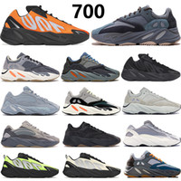 Top qualité Avec boîte  700 chaussures styliste réfléchissants Tie-dye hommes aimant bleu turquoise de carbone orange womens chaussures de course chaussures de sport
