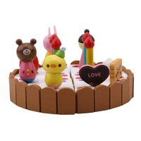 Birthday Cake Children Play Toy Mini Kitchen Toys Wooden Cak...