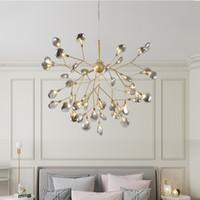 Lustre de LED moderno vaga-lume luz elegante ramo de árvore lustre lâmpada decorativa lustres de teto pendurado Iluminação Led