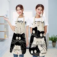 Kid manches Pinafore impression mignon de chat tablier Cartoon Textile Housewear Tabliers Mode 2020 Nouveau modèle 8 5mya UU